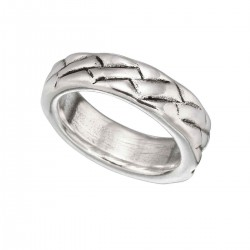 Silver band ring for men from UNOde50