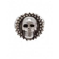 Silver plated skull ring