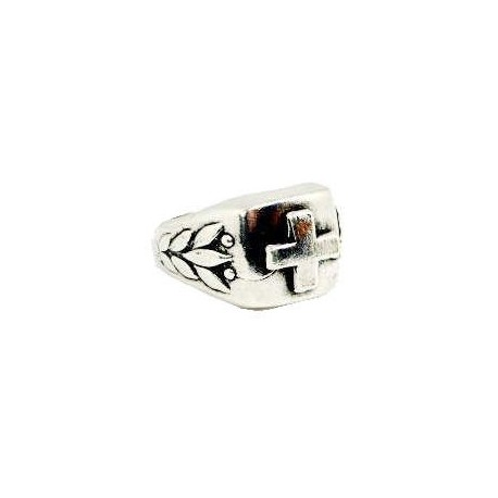 celtic ring with gothic cross