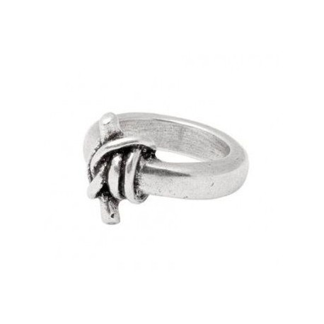 Silver ring with knot for men from UNOde50