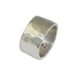 Hammered sterling silver ring for men