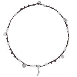 mens beaded silver necklace