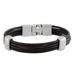 Brown leather bracelet mens