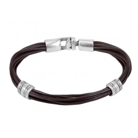Bracelet plusieurs lanières de cuir