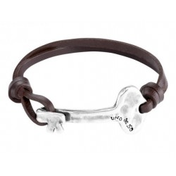 leather bracelet with a key charm clasp