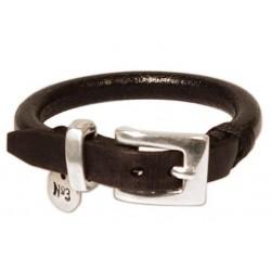 Men's round leather cord bracelet