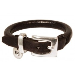 Bracelet cordon cuir rond pour homme