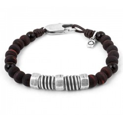 Ceramic beaded brown bracelet