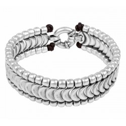 Silver Scales Mens Bracelet