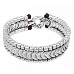 Maenner Silberarmband Schuppen Ornamente