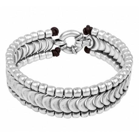 Bracelet Hombre Escamas Plata