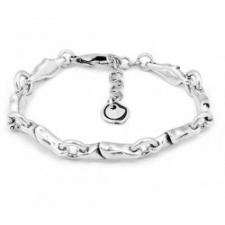 Round Silver curb link chain bracelet