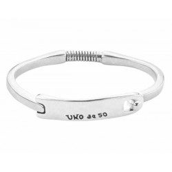 silver bangle bracelet key shape