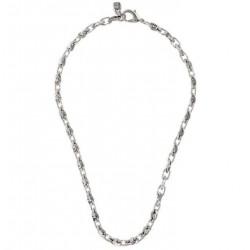 Geflochtene Silberglieder Halskette von UNOde50