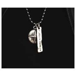 Necklace Compass Pendant