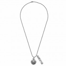 Kugelperlen Halskette mit Kompass Anhänger