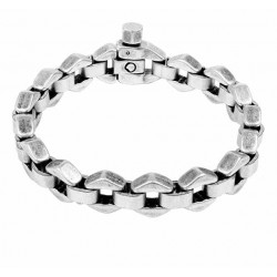 Silver bracelet 6-sided links