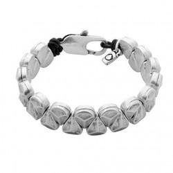 Armband matte Silberperlen