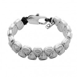 Bracelet grosse perles mate