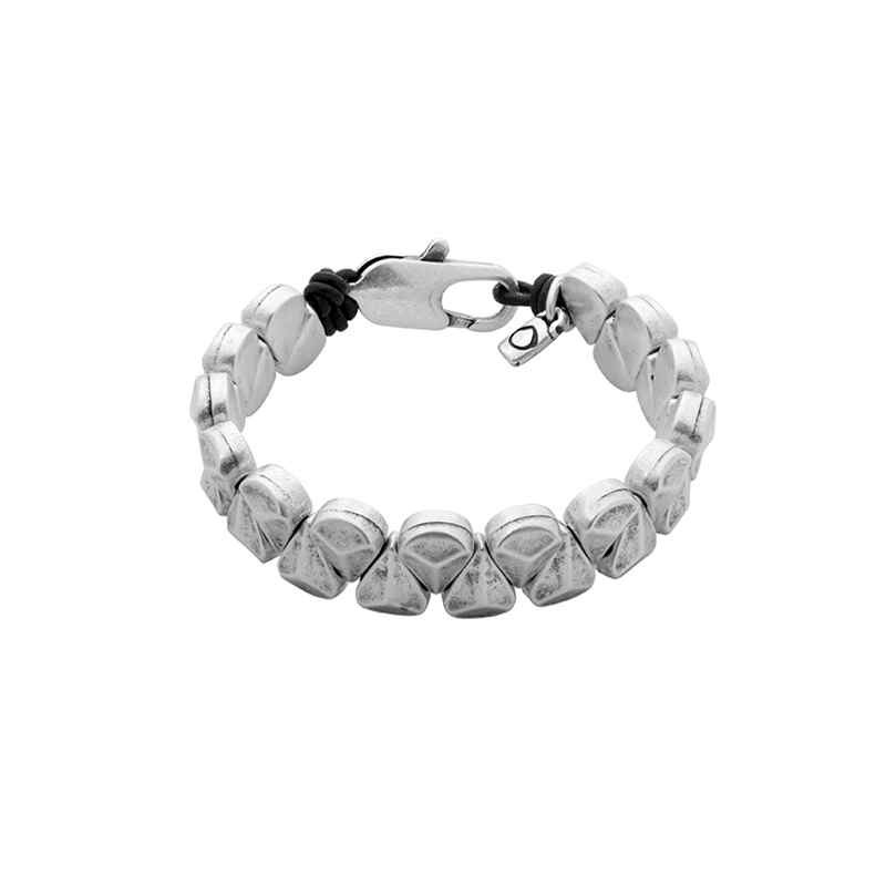 Bracelet mat silver pearls