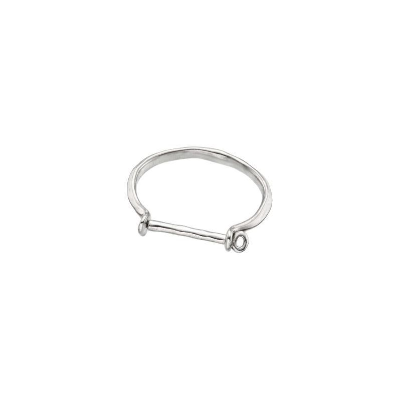 Horseshoe Silver Cuff Bracelet
