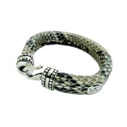 Bracelet avec la peau de python
