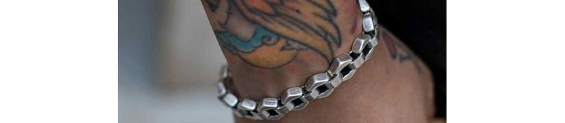 Pulseras de cadena con eslabones para hombre